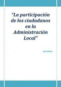 La participación de los ciudadanos en la Administración Local