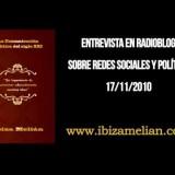 Entrevista a Ibiza Melián sobre la política en las redes sociales (17/11/2010)