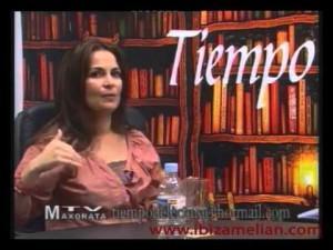 Entrevista a la escritora Ibiza Melián en el programa Tiempo de Lectura, en Maxorata Televisión