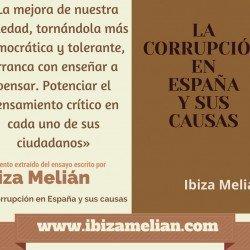 Frase del libro escrito por Ibiza Melián