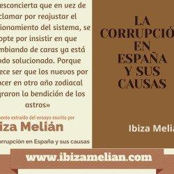 Frase sobre regeneración política, de Ibiza Melián