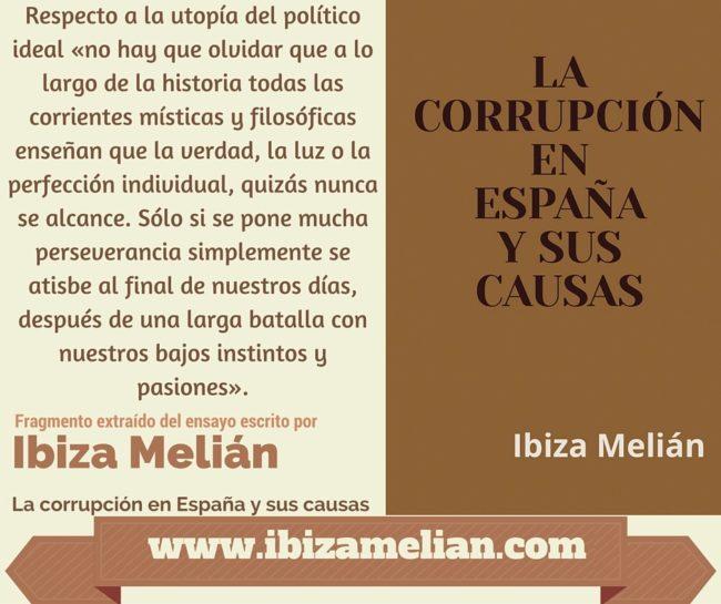 Frase sobre la utopía del político ideal, de la escritora Ibiza Melián