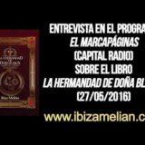 Entrevista a Ibiza Melián en el programa El Marcapáginas (27/05/2016)