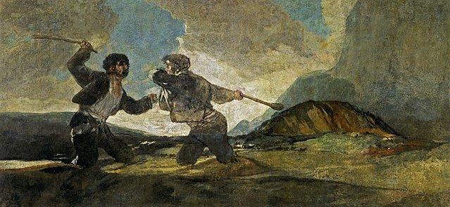 Duelo a garrotazos, de Francisco de Goya y Luciente