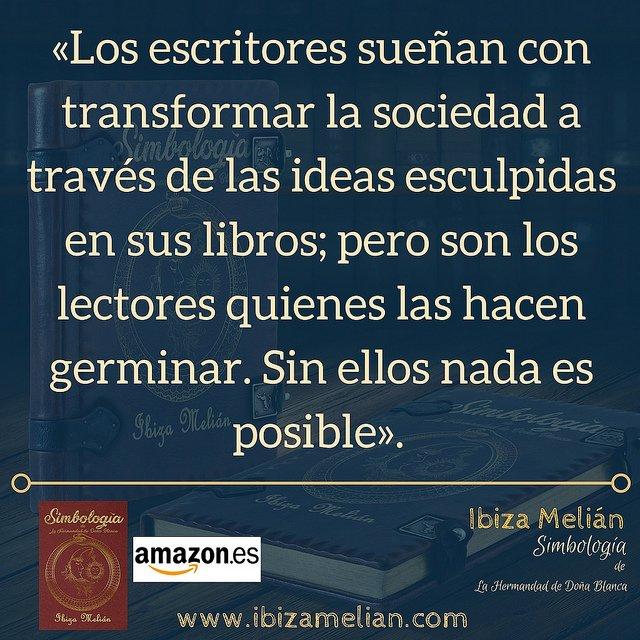 Frase sobre los lectores, de la escritora Ibiza Melián