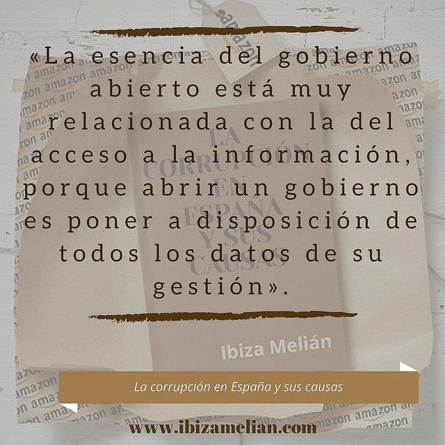 Frase sobre el gobierno abierto, de la escritora Ibiza Melián