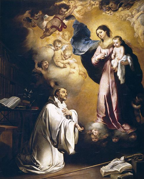 Aparición de la Virgen a san Bernardo, Murillo (1655)