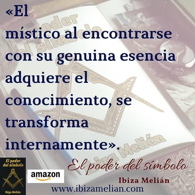 Frase sobre el misticismo, de la escritora Ibiza Melián