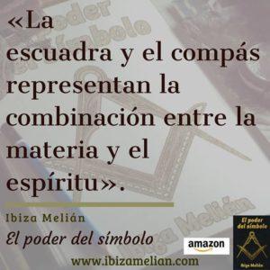 Frase de la escritora Ibiza Melián sobre la escuadra y el compás