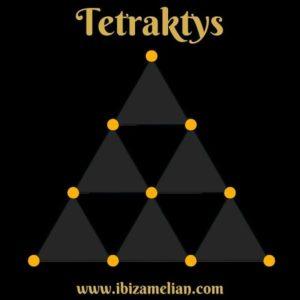 La Tetraktys que representa al número diez