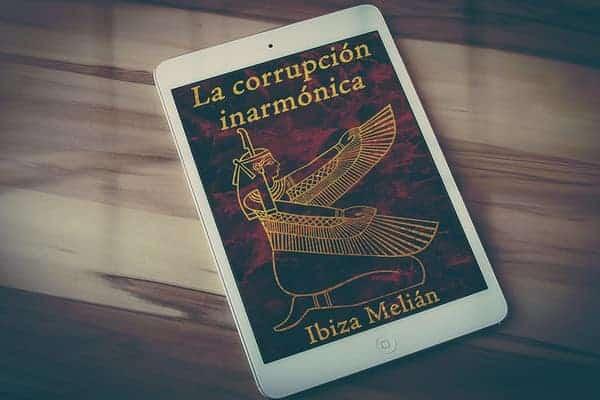 La diosa Maat en la portada de La corrupción inarmónica, libro de la escritora Ibiza Melián