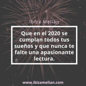 Felicitación para el 2020 de la escritora Ibiza Melián