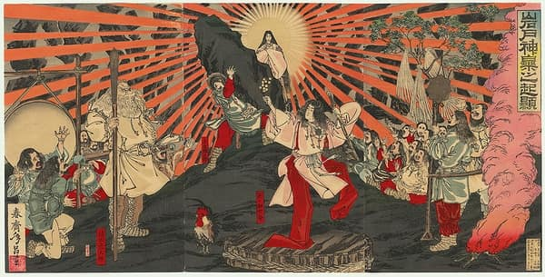 La diosa del Sol Amaterasu, mitología japonesa
