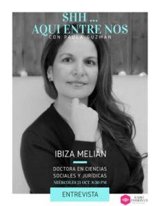 Entrevista a la escritora Ibiza Melián en RADIO PASSION US